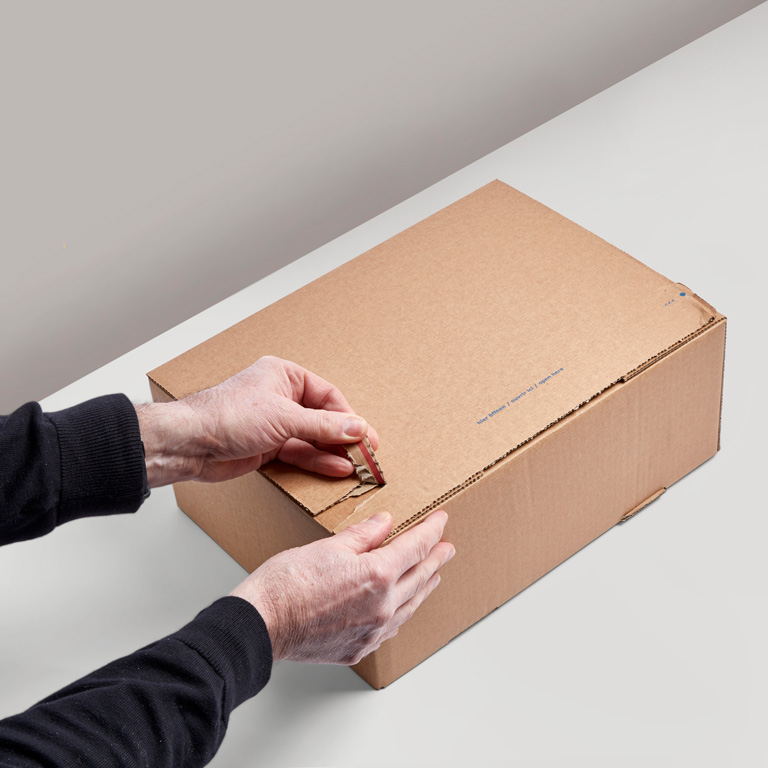 slider image - Self-adhesive cardboard shipping boxes
